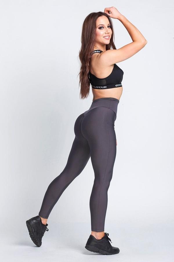 Gym Glamour Legíny High Waist Dark Grey, L - 7