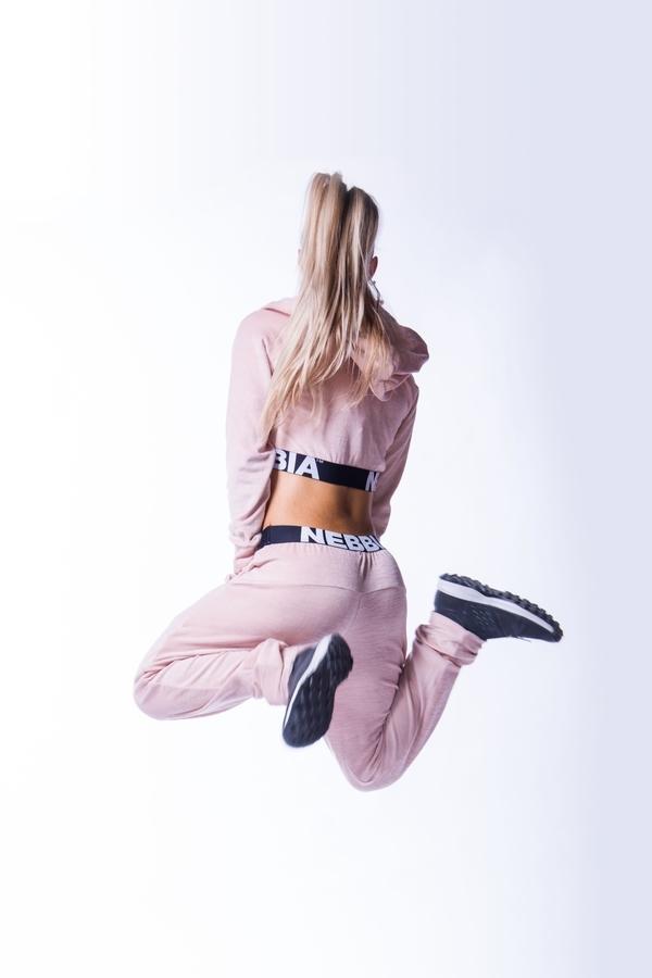 Nebbia 611 Drop Crotch Velvet Tepláky Lososové - 7