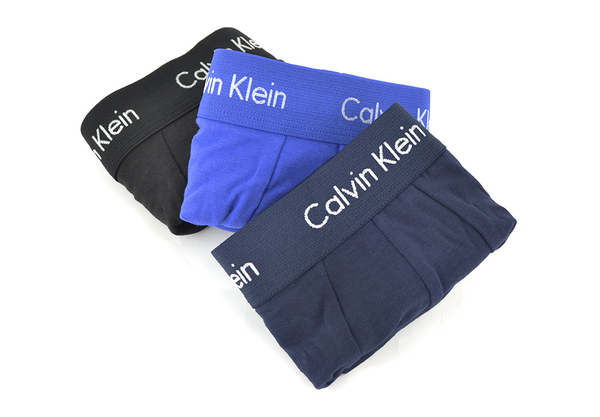 Calvin Klein 3Pack Boxerky Black, Blue & Blue Royal LR, M - 7