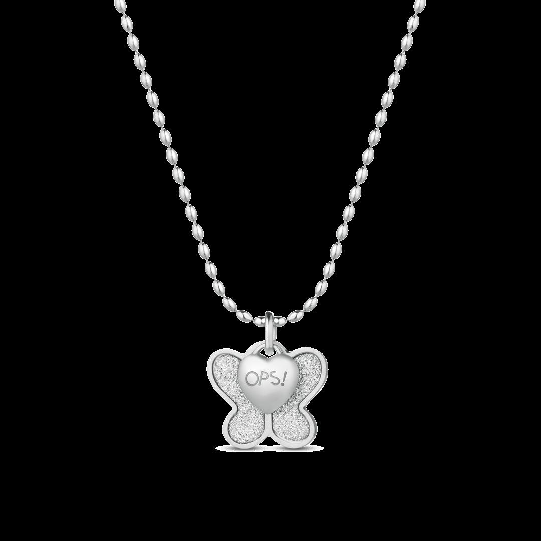 ca6a45282 Ops! Objects Glitter Náhrdelník Silver Butterfly - 1
