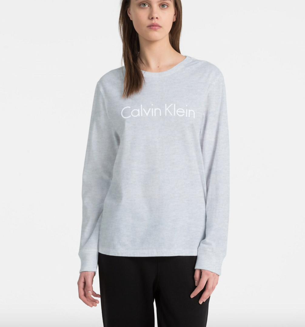 4ae0aaa482 Calvin Klein Tričko Logo Grey - 1