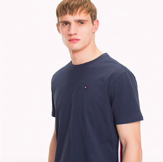 Tommy Hilfiger Tričko Organic Cotton Navy - 3 d8c608cfbf2